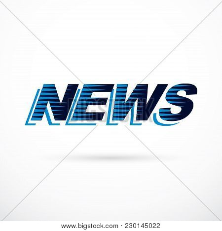News Inscription, Vector Illustration. Public Relations Concept.