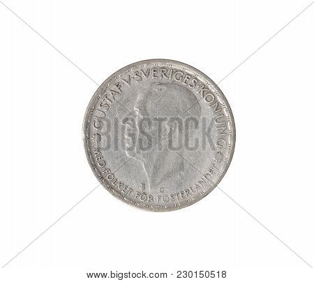 Obverse Of One Krona Coin Made By Sweden 1944
