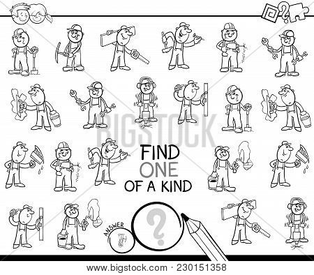 One Of A Kind Game With Workers Coloring Page