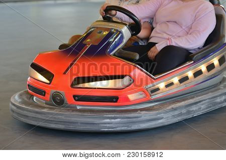 Image Of A Children Electric Car Attraction