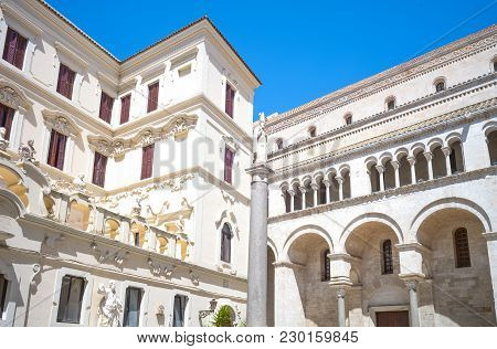 Bari, Italy, The Building Of The Seminary Adjacent To The St Sabino Cathedral