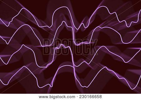 Eeg Electroencephalogram, Brain Wave In Deep Sleep, 3d Illustration