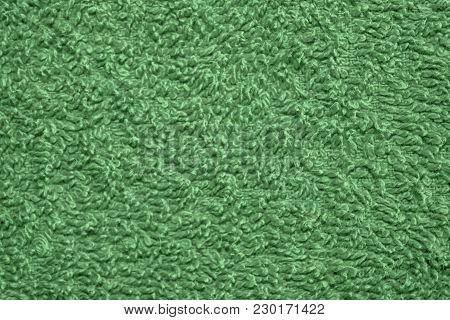 Green Cloth Background Abstract Fabric Texture, Empty Template