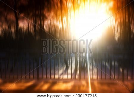 Light Leak On Railway Station Blur Background Hd