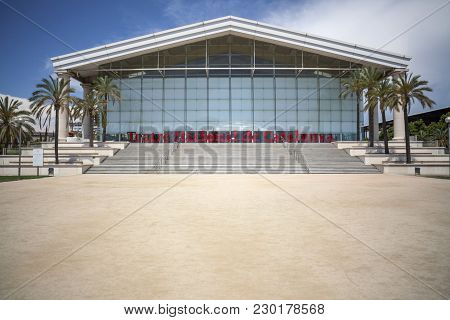 Barcelona,spain-june 8,2015: Architecture, Building Theater, Tnt-teatre Nacional De Catalunya, By Ri