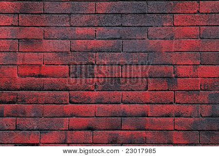 Red And Black Brick Wall