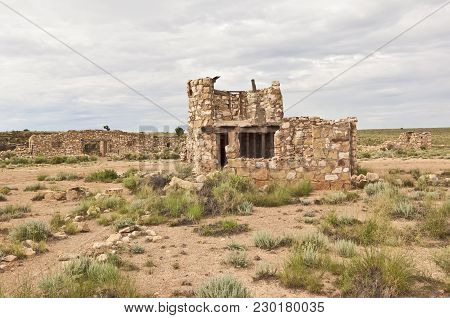 The Ghostly Remains Of An Abandoned Trading Post Along The Historic Route 66 In Arizona Known As Two
