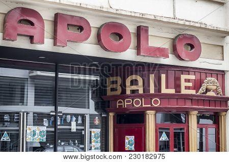 Barcelona,spain-september 6,2015: Sala Apolo, Exterior Facade, Concert Hall, Barcelona.