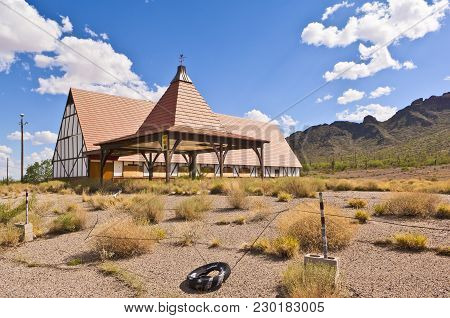 An Abandoned Restaurant Near Picacho Peak Arizona. This Used To Be A Top Tourist Attraction Since It