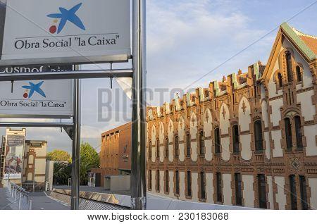 Barcelona,spain-november 3,2015: Cosmocaixa, Science Museum. The Building, Designed By Josep Domenec