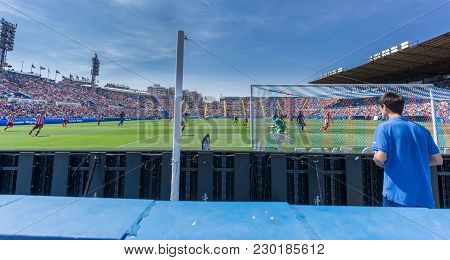 Valencia - May 10: Unidentified Children Paying Attention During Match Between Levante Fc And Atleti