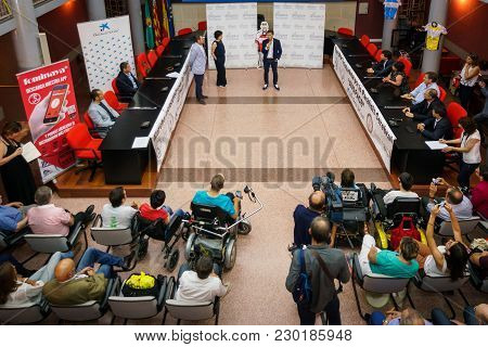 Valencia - June 10: Pedro Delgado Participates In The Presentation Of Avapace Ii Cycling March Again