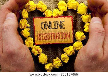 Conceptual Writing Showing Online Registration. Business Photo Showcasing Register Web Subscription
