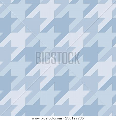 Seamless Surface Pattern Design With Houndstooth Ornament. Classic Fashion Fabric Print. Mosaic Moti