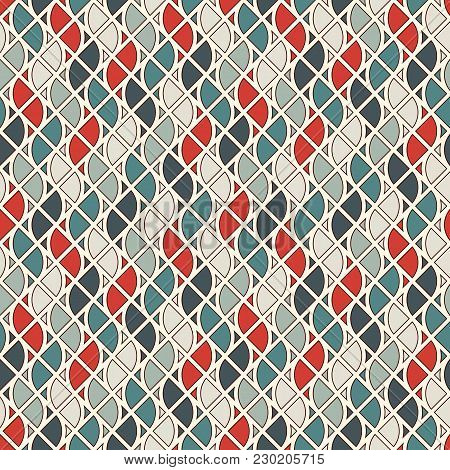 Seamless Surface Pattern With Fire Symbols. Contemporary Print With Repeated Spurts Of Flame. Abstra