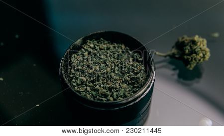 Modern Gadgets For Smoking Cannabis Buds. Thc And Cbd