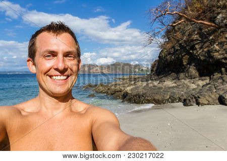 Smiling Tourist Selfie