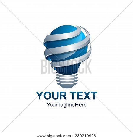 3D Idea Logo, Light Bulb Idea Icon. Light Bulb Logo Design