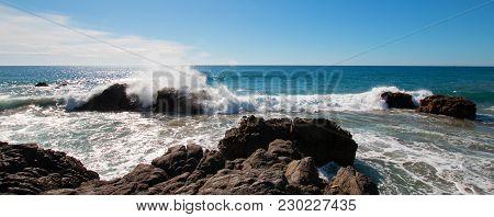 Rocky Coastline At Cerritos Beach Near Todos Santos In Baja California Mexico Bcs