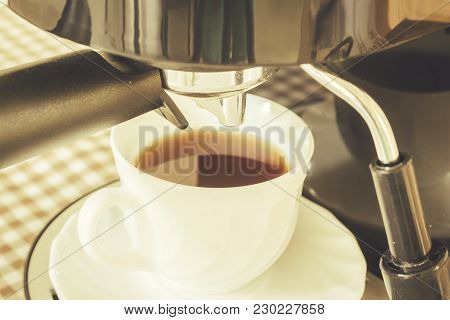 Coffee Maker Machine At The Coffee Shop