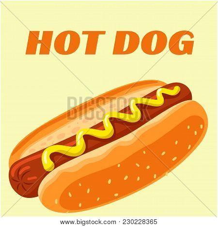 Hot Dog Menu Hot Dog Background Vector Image