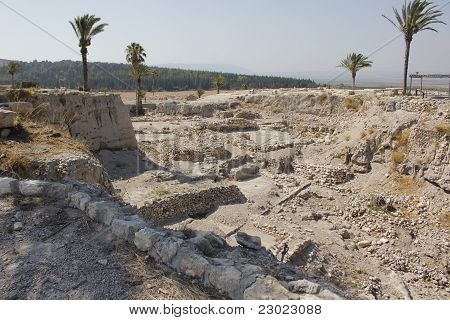Tel Megiddo, the Salomon Stables Town Ruins