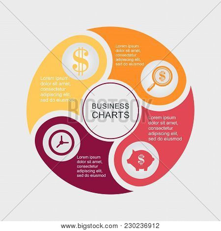 Infographics Step By Step. Universal Abstract Element Of Chart, Graph, Diagram With 4 Steps, Options