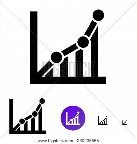 Chart Icon Or Schedule Icon For Business, E-commerce. Vector Icon In Line Style Of Different Sizes 1