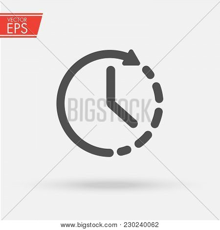 Timer Icon Vector. Waiting, Chronometer, Time Stopwatch And Clock Concept. Sign Isolated On White Ba