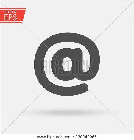Internet E-mail Icon. Web Adress Symbol. Send Mail Business Mesage Button.