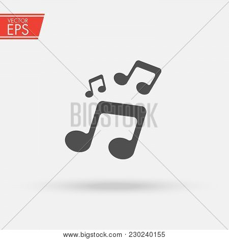Music Icon. Audio Sound Media Musical Design Elements From Music Staff .note Symbol For Your Web Sit