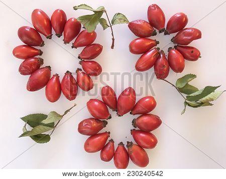 Healthy And Natural Fresh Rose Hip; Vitamin C