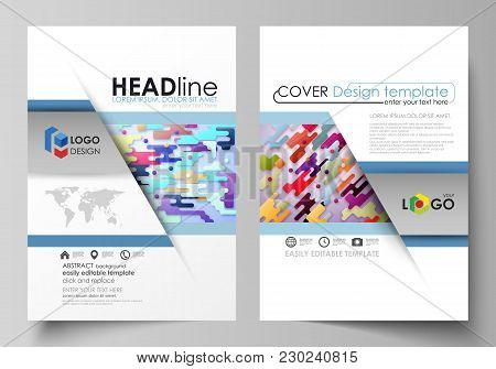 Business Templates For Brochure, Magazine, Flyer, Booklet Or Annual Report. Cover Design Template, E
