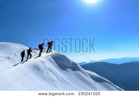 Snowy Mountains,mountaineering ,hiking , Activity , Peak Success ; Mountaineers