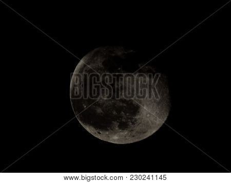 High Contrast Full Moon