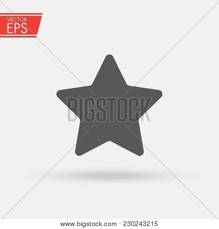 Star Icon Vector, Favorite, Best Rating, Award Symbol Isolated On White Background. Trendy Flat Styl