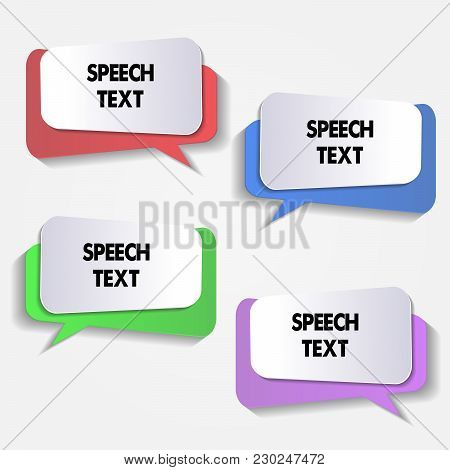 Colorful Speech Bubbles Set. Color Vector Icons Isolated. Thought , Speech Bubble. Dream Cloud. Talk