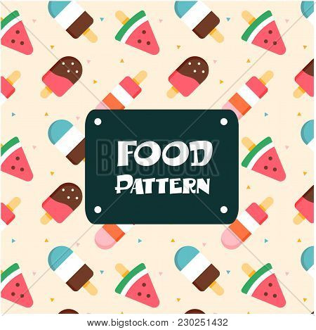 Food Pattern Ice Pop Background Vector Image