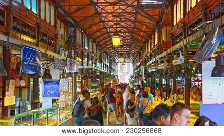 Indoor Of Market Of San Miguel (spanish: Mercado De San Miguel)