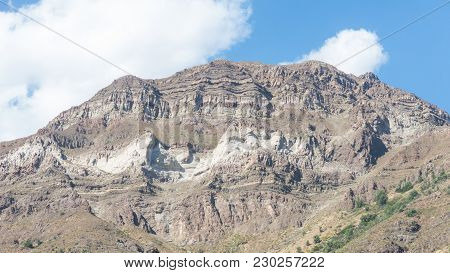 Cajon Del Maipo. Maipo Canyon, A Canyon Located In The Andes. Chile. Near The Capital Santiago. It O