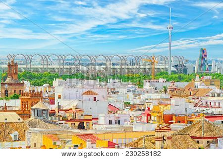 Panoramic View Of The City Of Seville From The Observation Platf