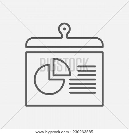 Report Icon Line Symbol. Isolated Vector Illustration Of  Icon Sign Concept For Your Web Site Mobile