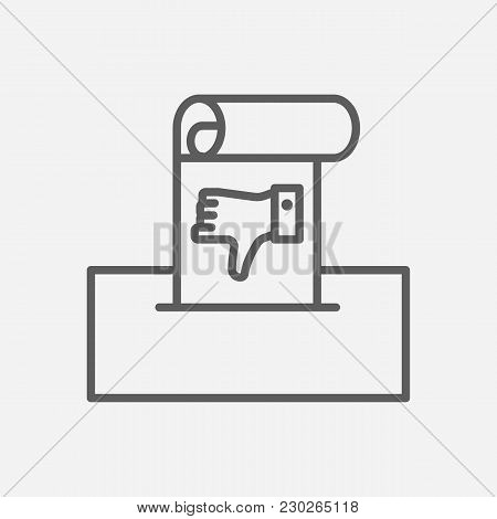 Complaint Icon Line Symbol. Isolated  Illustration Of  Icon Sign Concept For Your Web Site Mobile Ap
