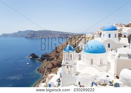 Oia City On Santorini Island - Greece