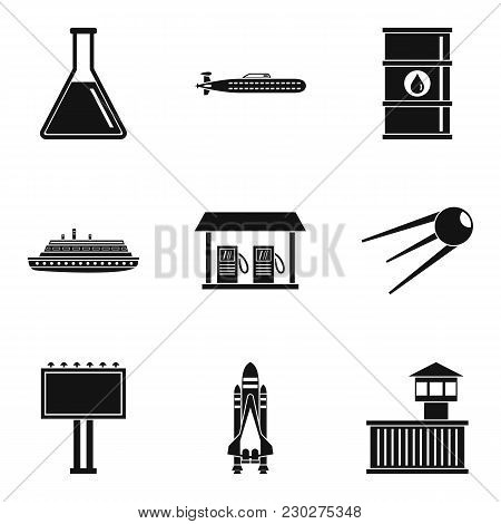 Professional Engineer Icons Set. Simple Set Of 9 Professional Engineer Vector Icons For Web Isolated