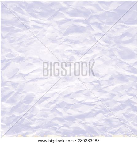 Background Of A Continuous Abstract, White Blue, Winter Landscape, Original, Compressed Paper, - Art