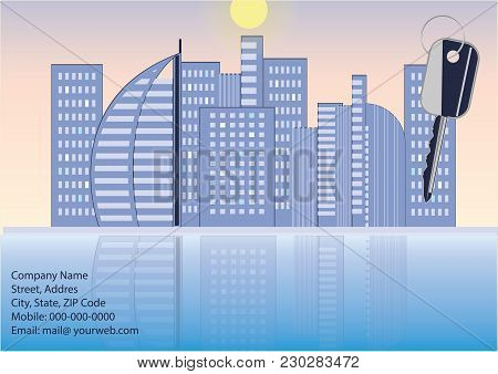 Banner Companies Selling, Buying, Renting Real Estate - Houses, Key - Art Creativity Modern Vector I