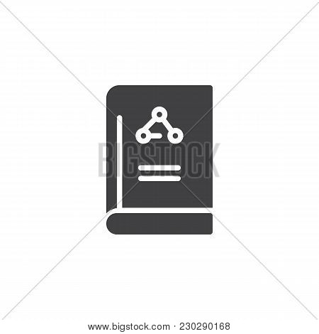 Science Of Chemistry Book Vector Icon. Filled Flat Sign For Mobile Concept And Web Design. Education