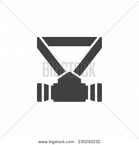 Respirator Vector Icon. Filled Flat Sign For Mobile Concept And Web Design. Safety Mask Simple Solid