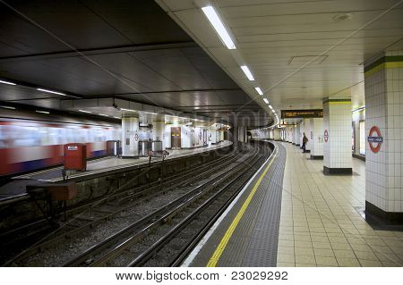 Underground Tube Station London